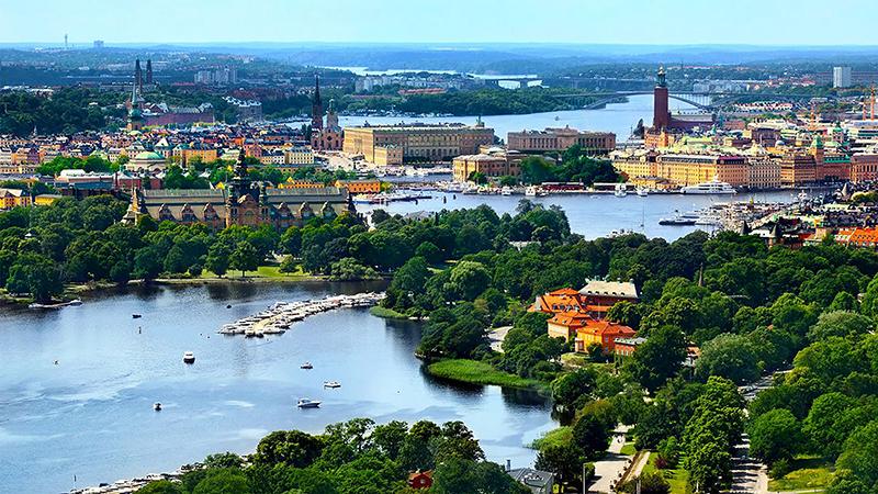 Två vackra huvudstäder - Stockholm, Helsingfors