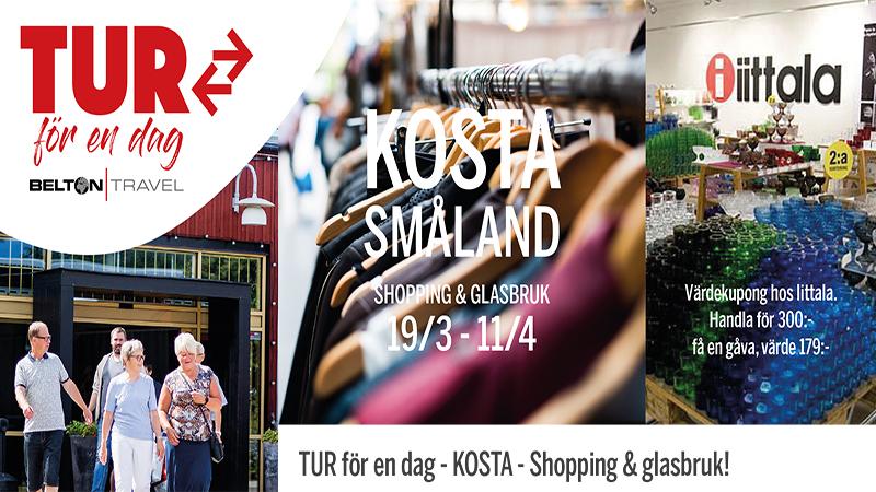 TUR för en dag - KOSTA - Shopping & glasbruk